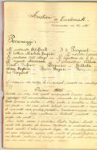1920 Forestieri a TURLEMAK Commedia manoscritta INEDITA