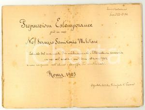 1911 Leonzio CARLASSARE Preparati farmaceutici militari