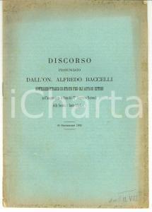 1902 SIENA Alfredo BACCELLI pro Società DANTE ALIGHIERI
