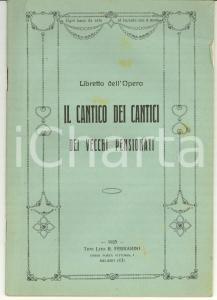 1925 COMO FASCISMO Cantico dei cantici dei pensionati
