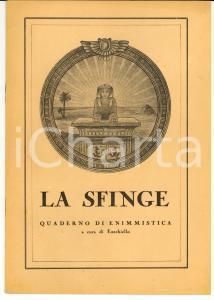 1945 LA SFINGE Quaderno di enigmistica EZECHIELLO
