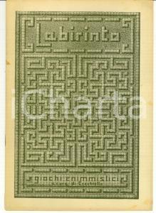 1944 LABIRINTO Quaderno di Enigmistica EZECHIELLO
