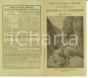 1895 Chemins de fer PARIS-LYON Excursions en SAVOIE