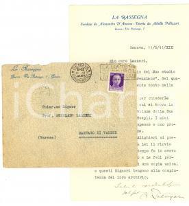 1941 GENOVA Achille PELLIZZARI rivuole i libri  AUTOGR.