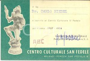 1957 MILANO Centro SAN FEDELE Autogr. Arcangelo FAVERO