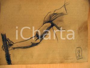 1927 Giuseppe MARETTO Studio anatomico AUTOGRAFO