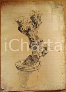 1934 Giuseppe MARETTO Allegoria dell'Italia AUTOGRAFO