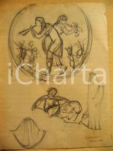 1930 Giuseppe MARETTO Studio per mitologia greca AUTOG.