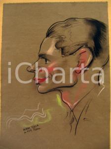 1939 ROMA NAGY BELA Portrait of a young man Autograph