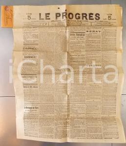 1898 LYON LE PROGRES Contre le péril anglais *Journal Républicain