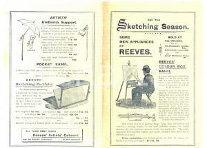 1940 ca REEVES' ARTISTS' COLOURS *Pubblicità colour box Volantino