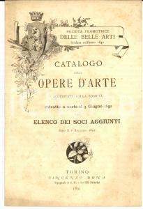 1891 TORINO Società PROMOTRICE DELLE BELLE ARTI Elenco dei soci aggiunti