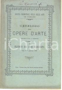 1885 TORINO Società PROMOTRICE DELLE BELLE ARTI Elenco dei soci aggiunti