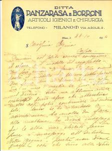 1924 MILANO Ditta PANZARASA e BORRONI Massaggi dimagranti a Nella REGINI