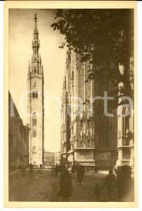 1927 MILANO Vico VIGANO' TORRE DELLE MEMORIE Veduta dall'Arcivescovado RENDERING