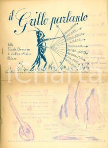 1953 MILANO Grillo Parlante giornalino scuole elementari VIA FORZE ARMATE