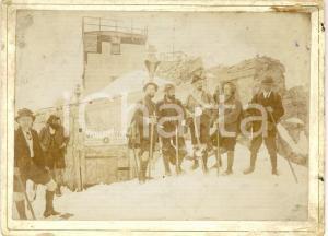 1900 ca ZUGSPITZE (D) Alpinisti in vetta presso la MUNCHNER HAUS *Foto RARA