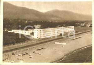 1940 ca MARINA DI MASSA (MS) Veduta spiaggia e COLONIA TORINO *Cartolina animata