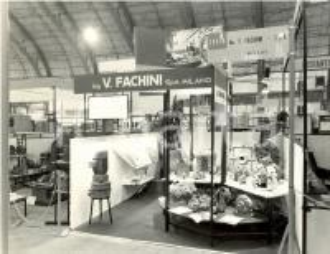 1960 MILANO Fiera Campionaria - Stand espositivo Ditta Ing. V. FACHINI *FOTO