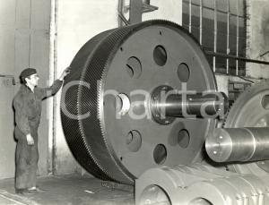 1970 ca MILANO Ditta Ing. V. FACHINI - Ruota dentata per mulino da cemento *FOTO
