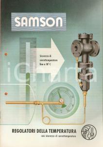 1960 MILANO SAMSON Regolatori temperatura Luigi DE KÜMMERLIN *Listino illustrato