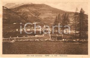 1930 ca TEMU' (BS) Panorama ALTA VALLE CAMONICA *Cartolina FP NV