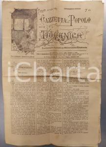 1883 TORINO GAZZETTA DEL POPOLO Nuovo R. Ospizio Generale di Carità PLANIMETRIA