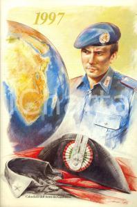1997 ARMA CARABINIERI Calendario illustrato Ireneo JANNI 100° Missione di CRETA