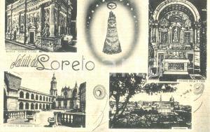 1930 ca LORETO (AN) Vedutine di esterno e interno del Santuario *Cartolina FP NV