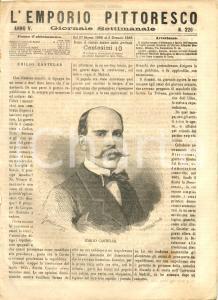 1868 L'EMPORIO PITTORESCO Eclisse del 18 agosto - funerali di ROSSINI *Rivista