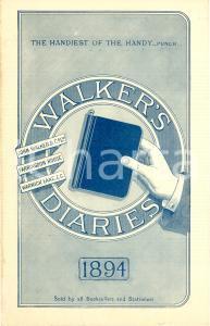 1894 LONDON John WALKER & Co. WALKERS' DIARIES Opuscolo ILLUSTRATO