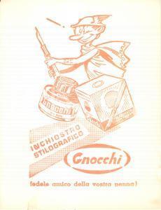1965 ca MILANO Inchiostro stilografico GNOCCHI Volantino ILLUSTRATO assorbente
