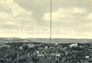 1955 CALTANISETTA Panorama - ANTENNA - STAZIONE R.A.I *Cartolina postale FG VG