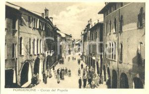 1951 ca PORDENONE Veduta di CORSO DEL POPOLO *Cartolina animata FP NV