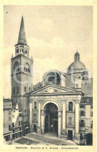 1943 ca MANTOVA Esterno della Basilica di SANT'ANDREA *Cartolina animata FP NV