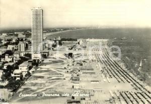 1961 CESENATICO (FC) Panorama visto dall'aereo SPIAGGIA *Cartolina animata FG VG