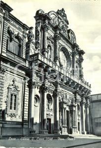1964 LECCE Chiesa Santa Croce *Cartolina postale FG VG