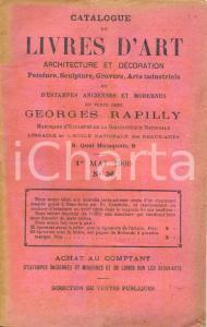 1900 PARIS Librairie GEORGES RAPILLY Catalogue de LIVRES D'ART architecture n°36