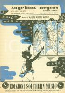 1949 Andres Eloy BLANCO Angelitos Negros Spartito illustrato ARFELLI