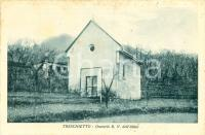 1940 ca BAGNONE (MS) Oratorio B.V. dell'Aiuto a TRESCHIETTO *Cartolina FP NV