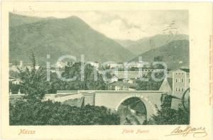 1911 MASSA (MS) Veduta del Ponte Nuovo *Cartolina FP VG