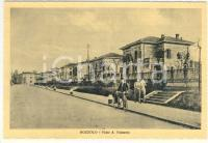 1940 ca BOZZOLO (MN) Viale A. VALZANIA Cartolina animata FG NV