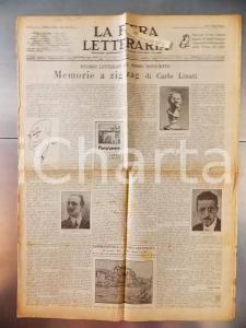 1928 LA FIERA LETTERARIA Carlo LINATI Memorie letterarie a zig zag MARINETTI