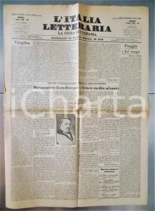1929 LA FIERA LETTERARIA Novità su F.T. MARINETTI e CAMPANILE Fidelius