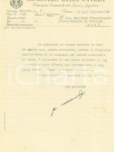 1939 ROMA Emanuel STRACQUADAINI Congegno apriscatole per Ministero Guerra