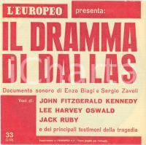 1967 OMICIDIO John F. KENNEDY Disco 33 giri Enzo BIAGI Sergio ZAVOLI Interviste