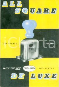 1968 ENGLAND All Square DE LUXE *Pubblicità ILLUSTRATA per timbri datari