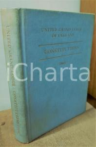 1965 FREEMASONRY United GRAND LODGE OF ENGLAND Constitutions *Book