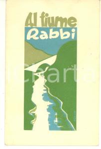 1935 Magg. Rinaldo MONTIRONI Al fiume Rabbi *AUTOGRAFATO per cav. GIACHERY