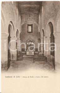 1910 ca ABBADIA A ISOLA (SI) Interni della chiesa *Cartolina FP NV